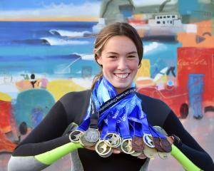 Charlotte Underwood-Nicol (15) has 22 medals from three different sports. PHOTO: PETER MCINTOSH