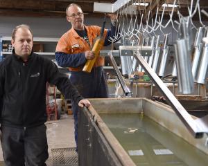 Escudo Coatings' managing director, Scott Taylor, and Paul Graham, having just hauled...