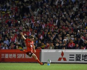 Former Highlanders first-five Hayden Parker has been kicking superbly for the Sunwolves this...