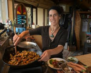 Hagar Orzi's harvest ratatouille features seasonal vegetables. Photos: Linda Robertson
