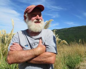 Hugh Wilson at the Hinewai Reserve on Banks Peninsula. Photo: Maureen Howard