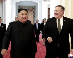 In this October 7, 2018, file photo provided by the North Korean government, North Korean leader...
