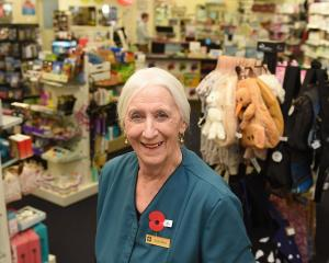 Dame Lois Muir has called time on her job at the Dunedin City Pharmacy, in Princes St. PHOTO:...