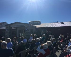 A crowd turns out for the reopened Maniototo Hospital. Photo: Adam Burns
