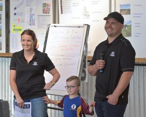 Southland-Otago share farmers of the Nicola and Cameron van Dorsten, with eldest son Lachlan (5),...