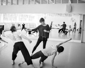 Victoria Columbus works with dancers on her new work for Wanaka's Festival of Colour. Photos:...