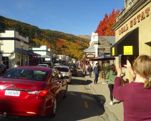 Arrowtown's annual autumn festival was proving popular with visitors yesterday. Photo: Tracey...