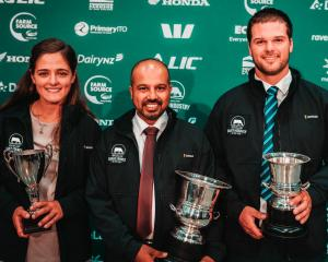 Nicola Blowey (left), Ruwan Wijayasena, and Matt Redmond are the winners in Canterbury-North...