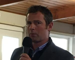Federated Farmers North Canterbury meat and wool chairman Daniel Maxwell gets proceedings under...