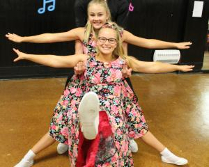 Invercargill Rock 'n' Roll Club junior competitors (from front) Isabella O'Donnell, Caitlin van...
