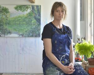 Anya Sinclair in her home studio in Port Chalmers. Photo: Gerard O'Brien
