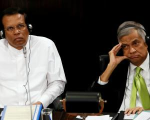 Sri Lanka's President Maithripala Sirisena (left) and Prime Minister Ranil Wickremesinghe. Photo...
