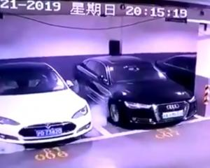 "The video was widely shared on China's Twitter-like Weibo, with the hashtag ""Tesla self-ignites"" becoming one of the most-read topics on the platform, being viewed over five million times. Photo: Twitter"