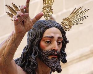 A lifelike effigy of Jesus from La Resurreccion. Photos: Kerrie Waterworth