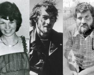 Karen Edwards, Gordon Twaddle, centre, and Timothy Thomson were found dead from gunshot wounds on...