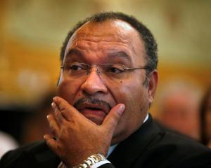 Now former Prime Minister of Papua New Guinea Peter O'Neill. Photo: Reuters