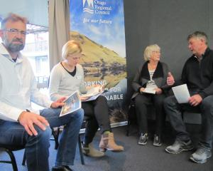 Discussing the Otago Regional Council's proposed 2019-20 annual plan at a drop-in session in...