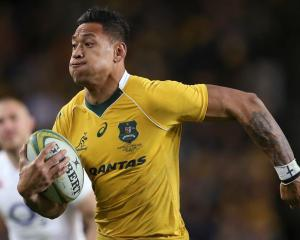 Israel Folau in action for the Wallabies. Photo: AP