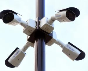 New CCTV cameras at Otago University. Photo: Stephen Jaquiery