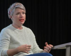 "Australian writer Clementine Ford at ""That F Word"", a Dunedin Writers & Readers Festival..."