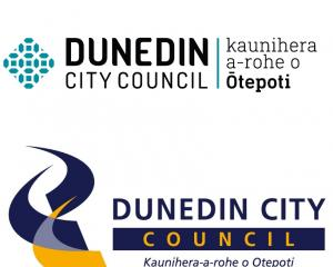The Dunedin City Council has a new logo (pictured top) after using the old one (bottom) for 14...