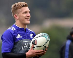 Damian McKenzie during the All Blacks training before the Wales Rugby Test at University Oval....