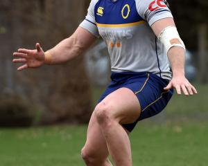 Otago No8 Dylan Nel  training at Logan Park earlier this week.