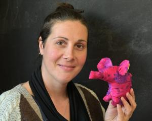Fiona Clements has had a huge idea to highlight waste ... handmade elephants. Photo: Linda...