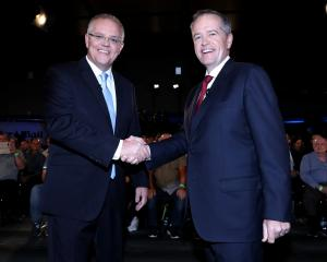 Australian PM Scott Morrison (left) and Opposition Leader Bill Shorten have failed to capture the...