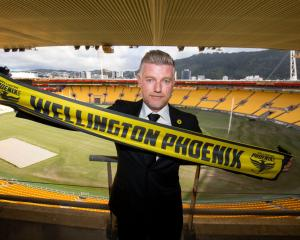 New Phoenix coach Ufuk Talay meets the press at Westpac Stadium in Wellington.  Photo: Getty
