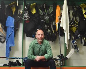 Dunedin Thunder coach Jeff Avery reflects on the season ahead in locker rooms at the Dunedin Ice...