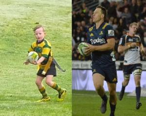 "Jesse Pellowe was called ""Baby Bender"" in a video post to the Highlanders Facebook page. Photos: SkySport/Gerard O'Brien"