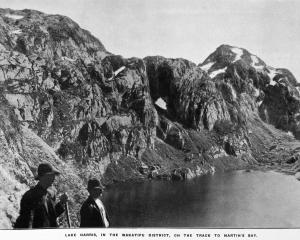 Lake Harris, in the Wakatipu  District, on the track to Martin's Bay. — Otago Witness, 28.5.1919 ...