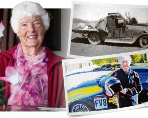 Avis Munro, of Wanaka, recalls her motoring exploits.PHOTOS: MARK PRICE