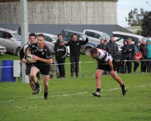 Edendale winger Phil Brown scores one of his three tries against Riversdale at Edendale on...