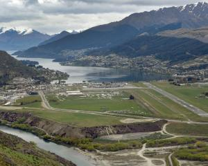 Queenstown Airport has announced a fall in its half-year profit. PHOTO: STEPHEN JAQUIERY 