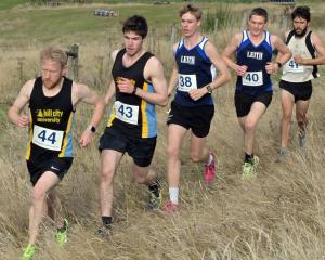 Runners (from left) Ollie O'Sullivan, Matthew Sutcliffe, Nathan Cochrane, Julius Stauffenberg,...