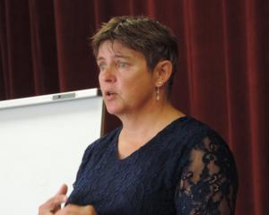 Rural Women New Zealand national president Fiona Gower speaks at a leadership workshop in Oamaru....