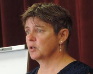 Rural Women New Zealand national president Fiona Gower speaks at a leadership workshop in Oamaru. Photo: Sally Brooker