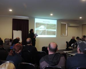 Otago Regional Council rural liaison and support officer Nicole Foote shows photographs of winter...