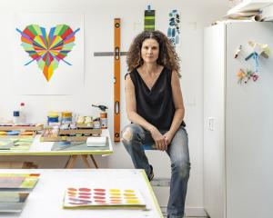 Sara Hughes at work in her Auckland studio. Photos: Supplied