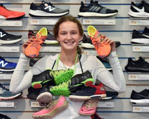 Otago hurdler Sarah Langsbury is collecting running shoes which she plans to donate to Pacific...
