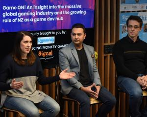 Runaway Play managing director Zoe Hobson speaks about the gaming industry at a Dunedin Techweek...