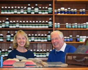Dunedin Apothecary Herbal Dispensary owner Tracey Loughran and her father, Norman Edwards,...