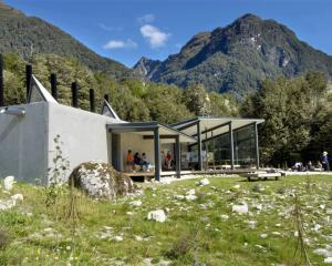 The Department of Conservation Routeburn shelter, a winner in the public architecture category,...