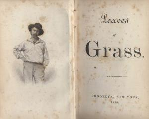 An 1856 edition of Walt Whitman's Leaves of Grass.