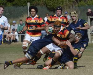 Zingari-Richmond upset Dunedin at Kettle Park today. Photo: Gerard O'Brien