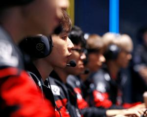 Members of Phong Vu Buffalo battle against Vega Squadron during the League of Legends (LOL) Mid...