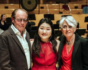 2019 Winner violinist Do Gyung (Anna) Im with Sir Michael Hill and Christine, Lady Hill at...