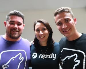 Tackling the US: From left, Wherewolf co-founder Ben Calder, Lisa Robertson, from reservations...